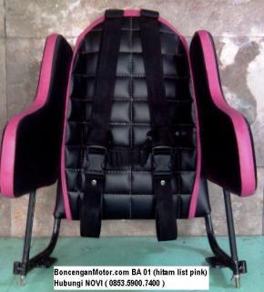 BoncenganMotor.com BA 01 (hitam list pink)