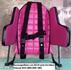 BoncenganMotor.com BA 02 (pink list hitam)