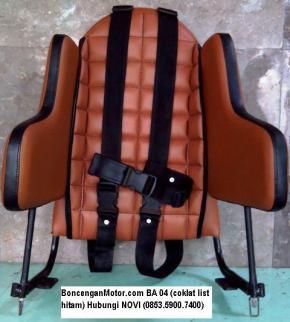 BoncenganMotor.com BA 04 (coklat list hitam)