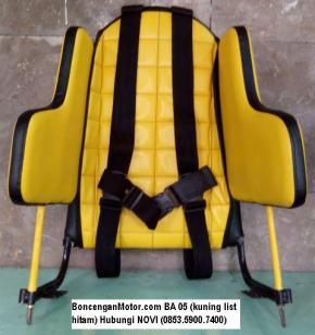 BoncenganMotor.com BA 05 (kuning list hitam)