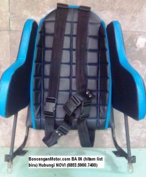 BoncenganMotor.com BA 06 (hitam list biru)