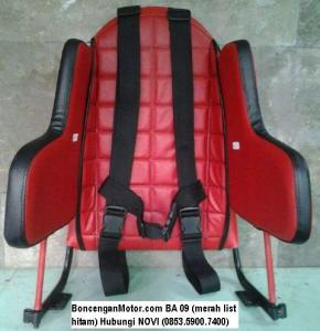 BoncenganMotor.com BA 09 (merah list hitam)