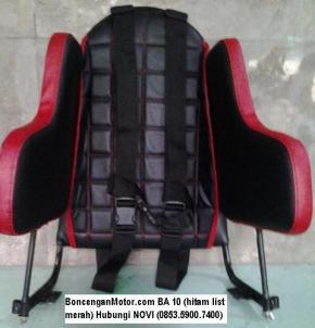 BoncenganMotor.com BA 10 (hitam list merah)